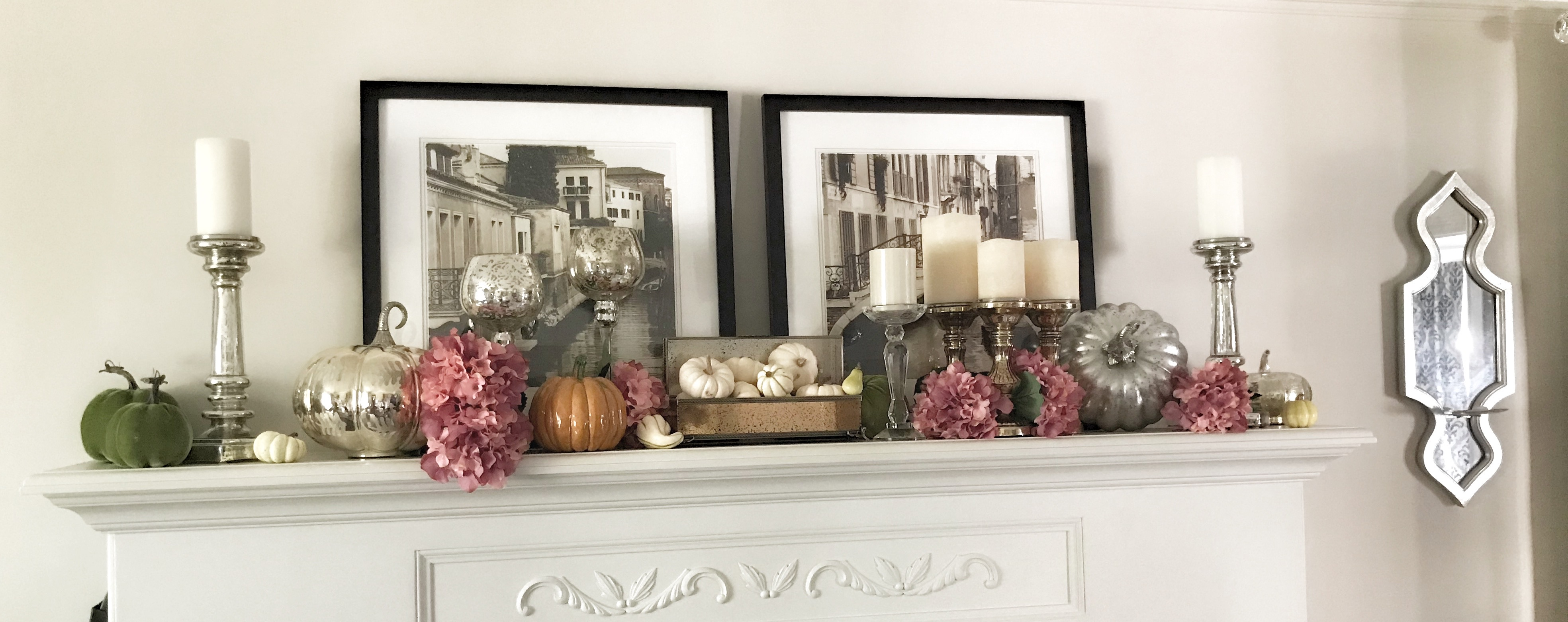 fall decor, fall tablescapes, fall dinner table, fall fireplace mantle, thanksgiving dinner, thanksgiving table