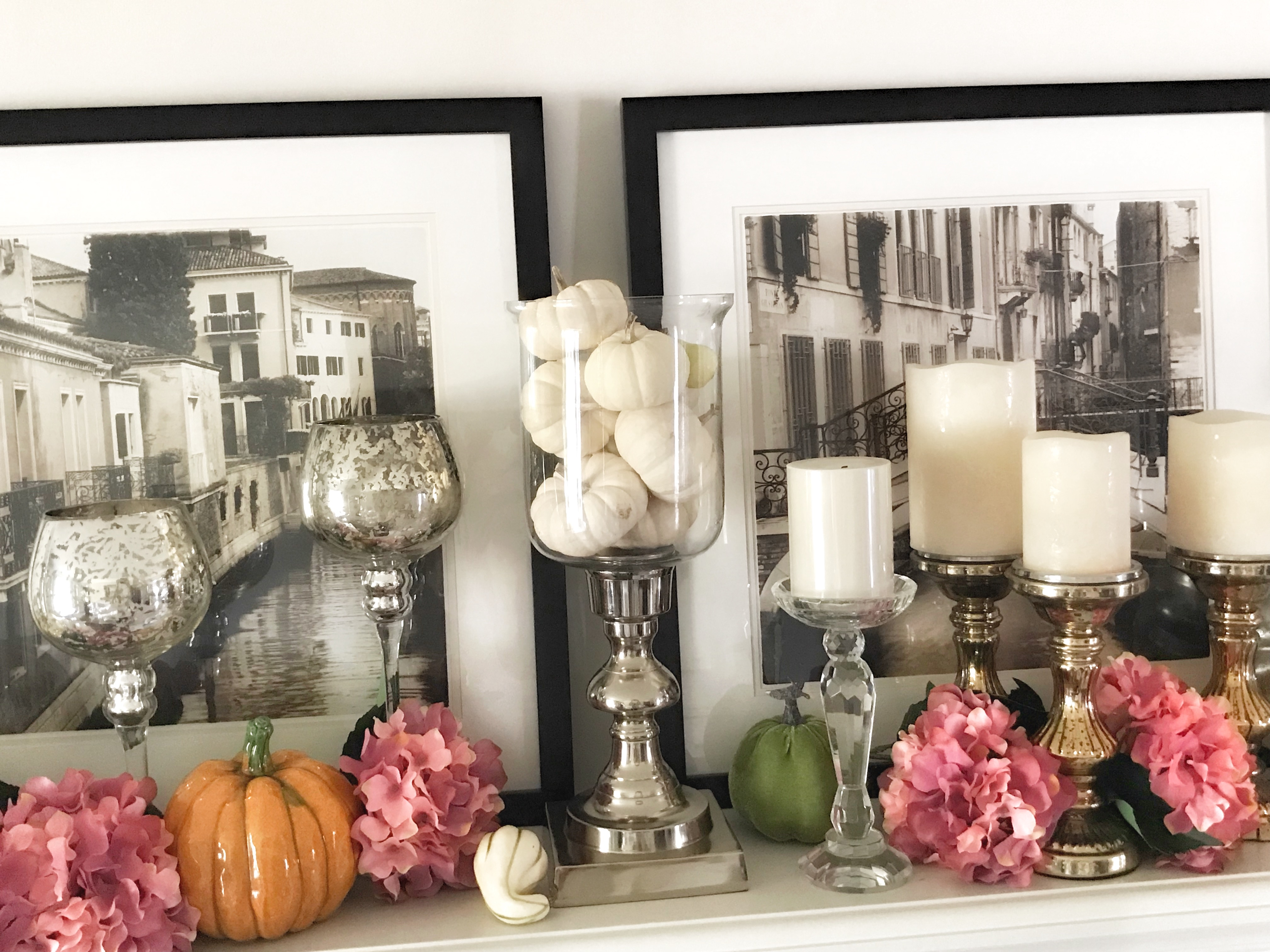 fall decor, fall tablescapes, fall dinner table, thanksgiving dinner, fireplace mantle, thanksgiving table