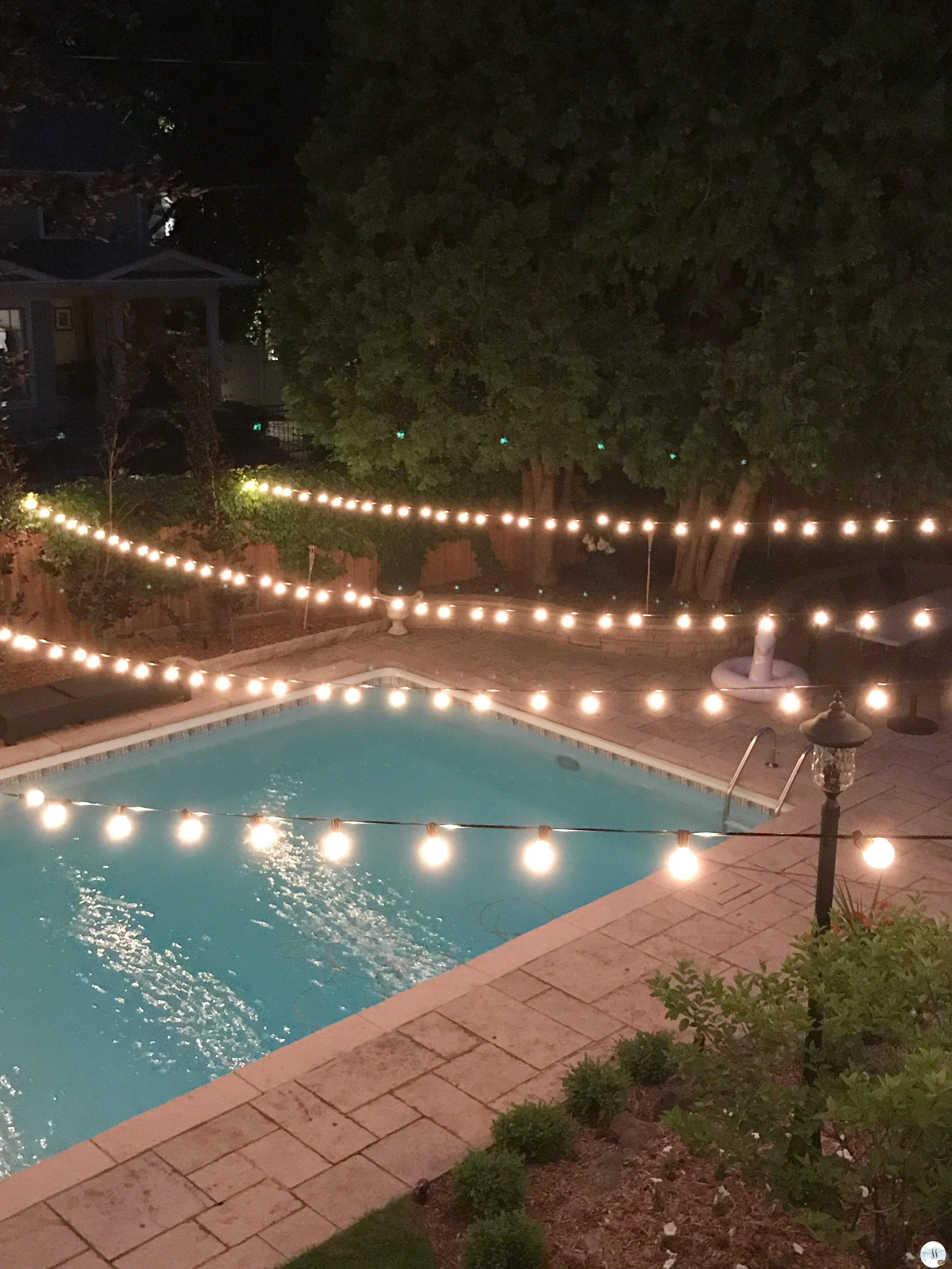 Patio lights add instant ambiance!