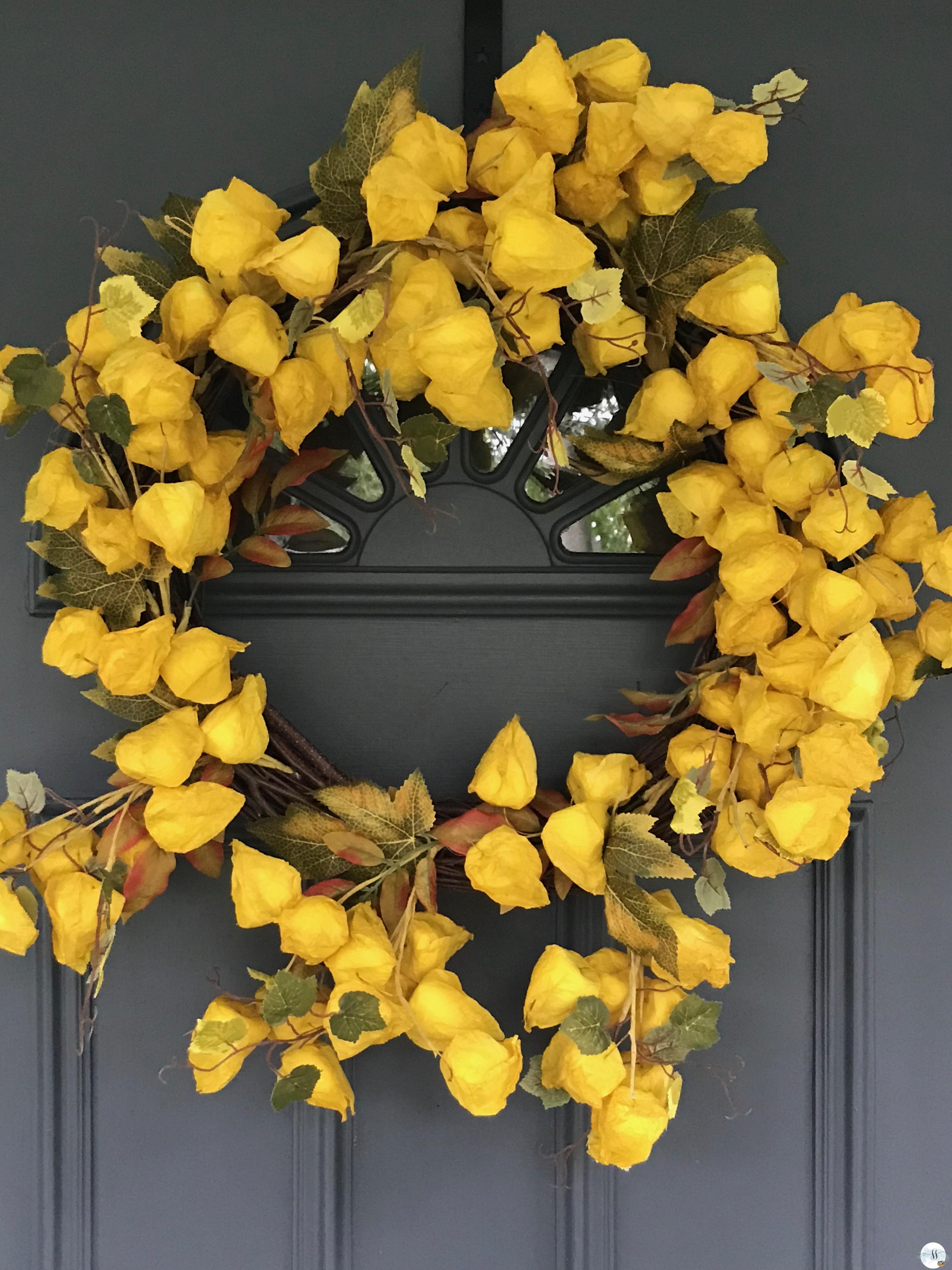 fall door wreath, homes and garden, fall decor