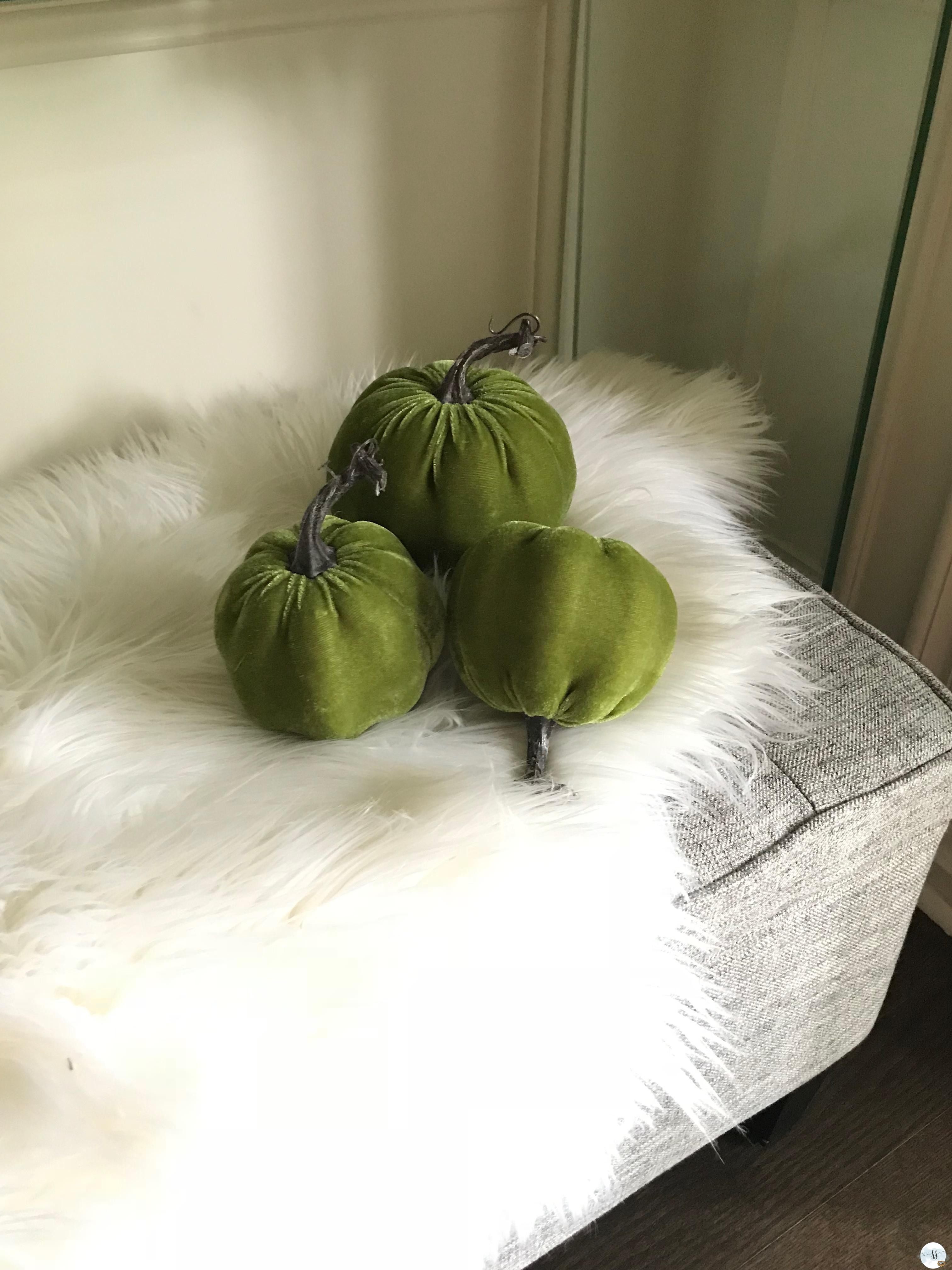 velvet pumpkins, better homes and gardens, pumpkins, fall decor.