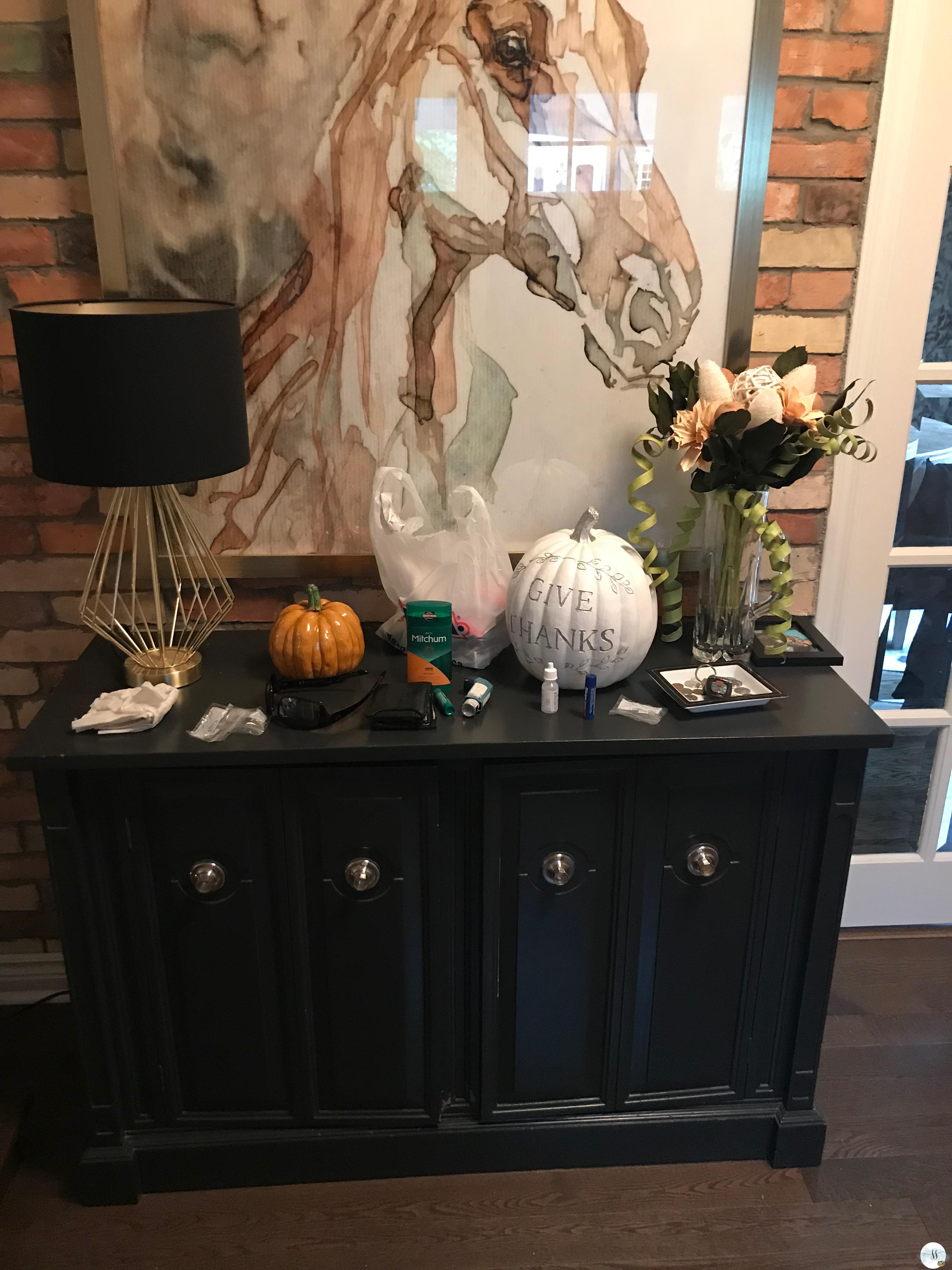 fall decor, exposed brick, horses, better homes and garden