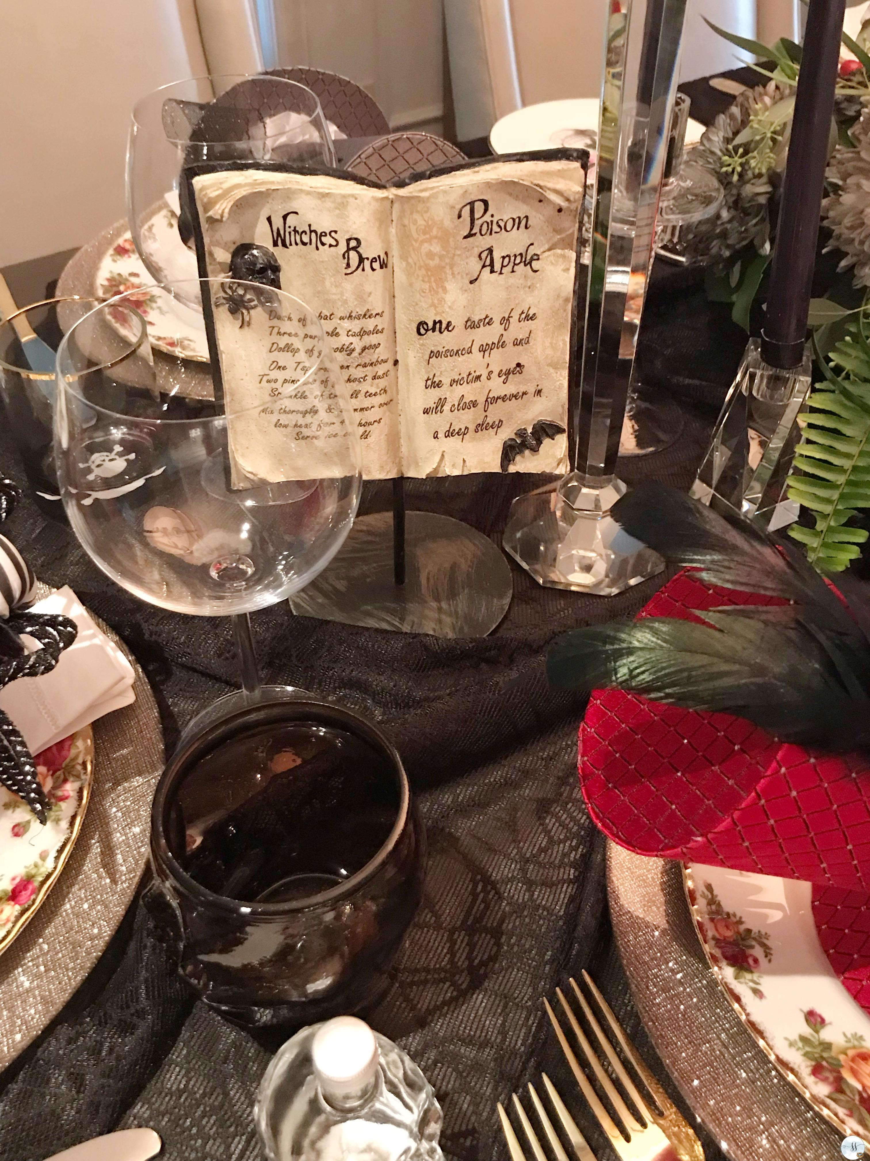 Fun gothic table scape for halloween