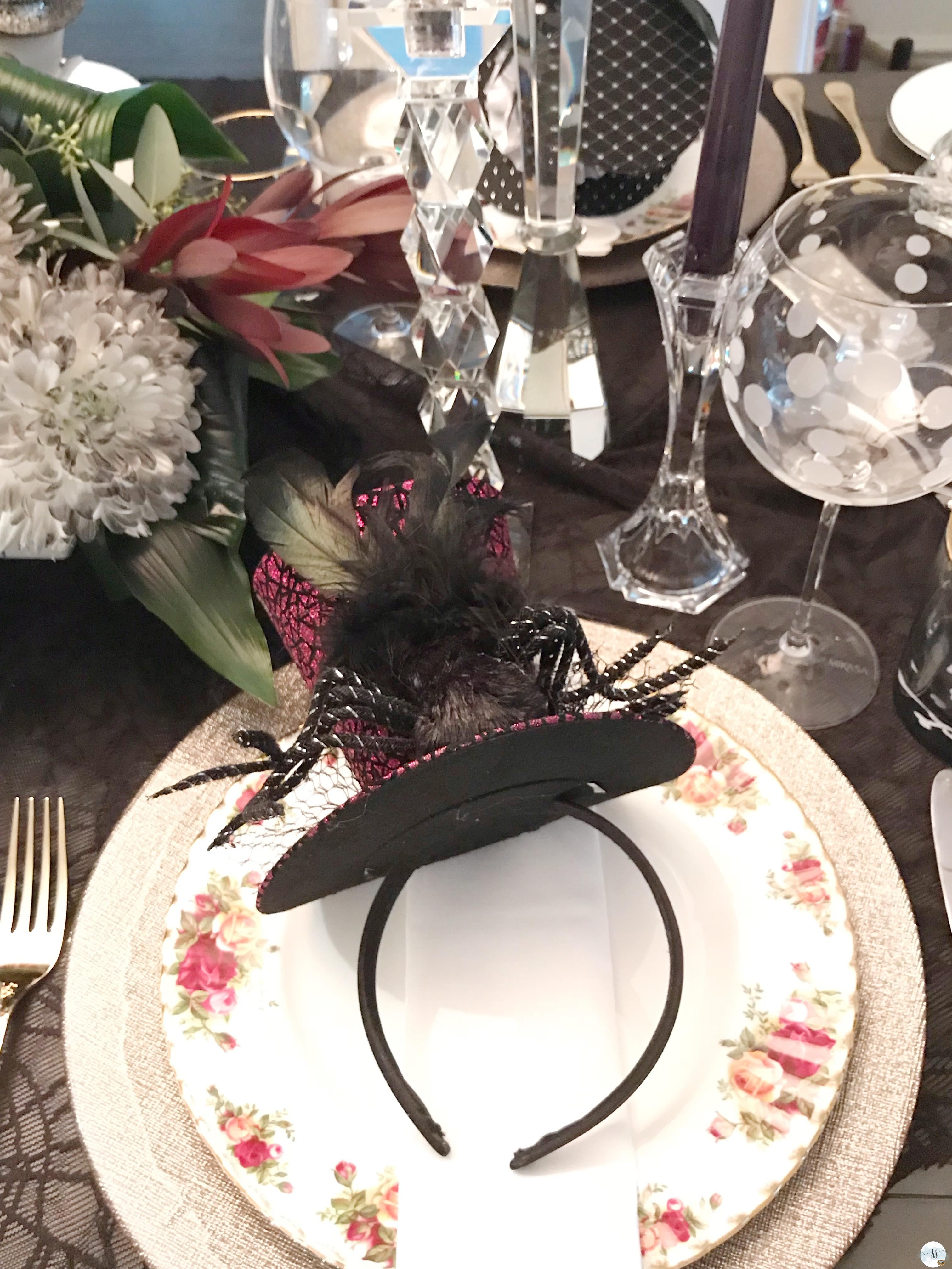 This years Halloween is a gothic table setting