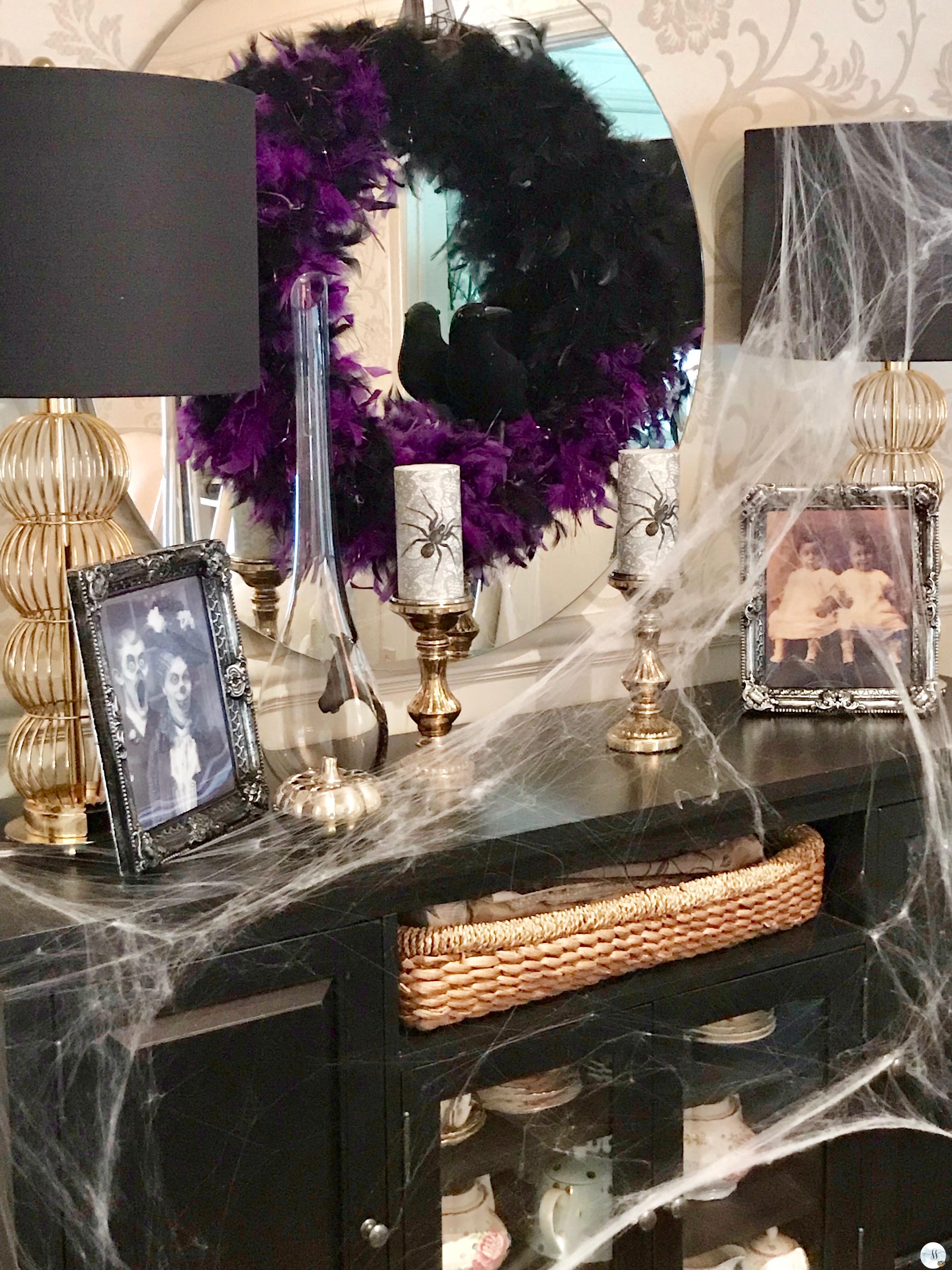 fun gothic halloween decor