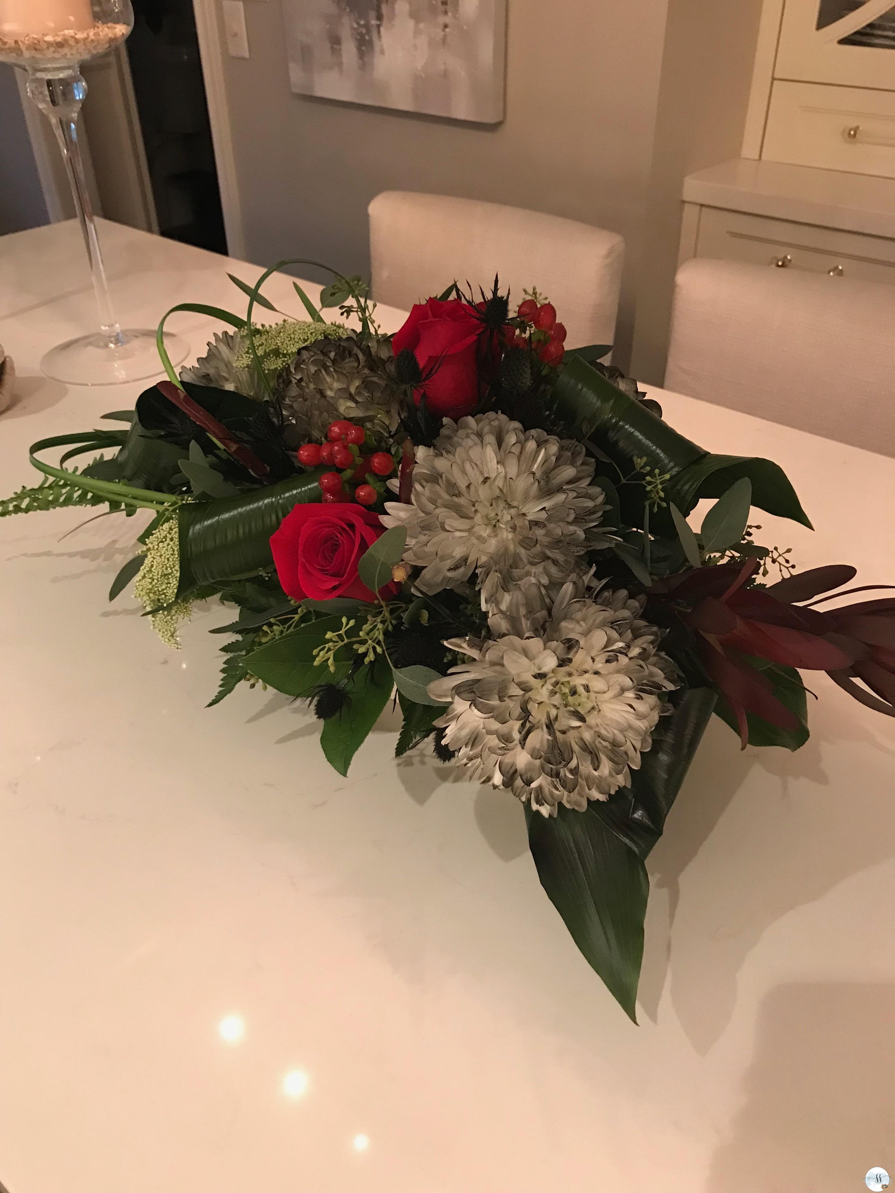 Halloween gothic floral arrangement