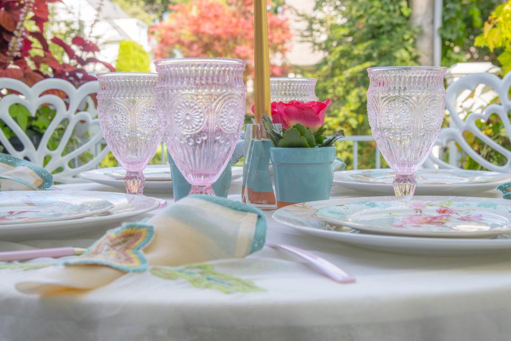 Tiffany flower pots