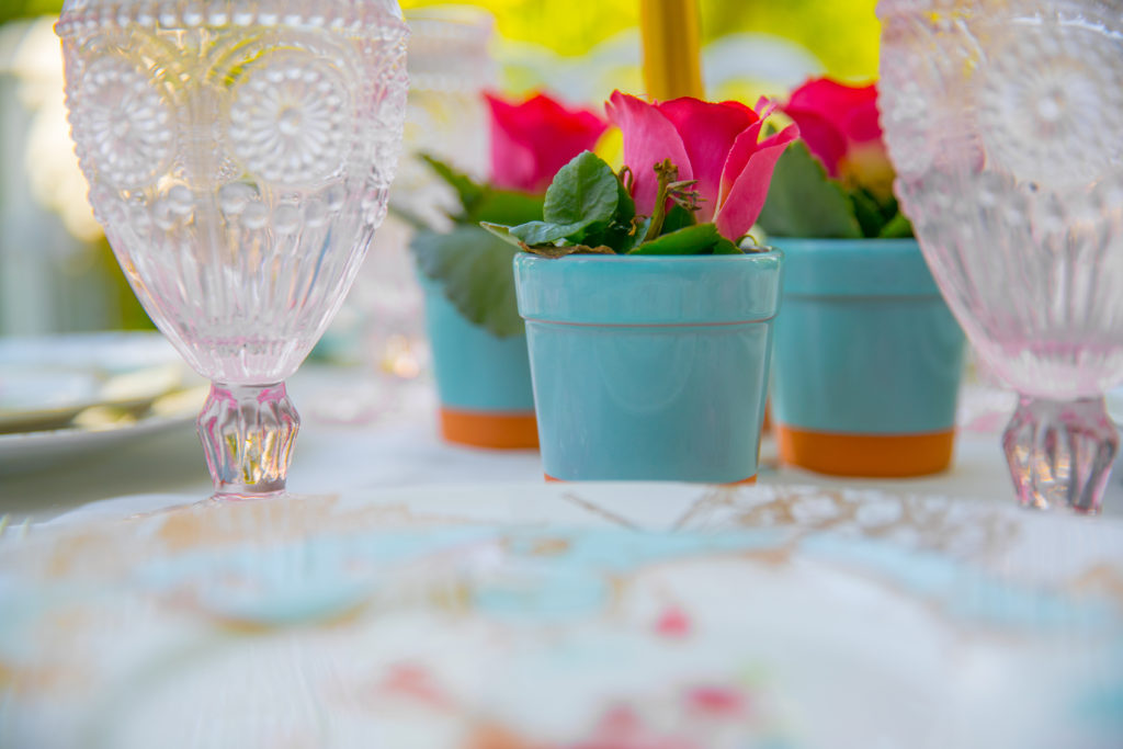 tiffany blue flower pots