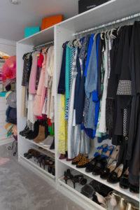 Closet organization, colour design