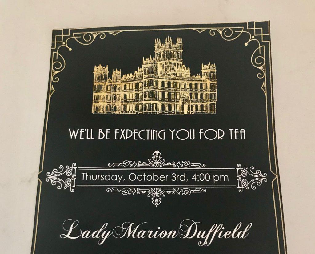 Downton Abbey invitation
