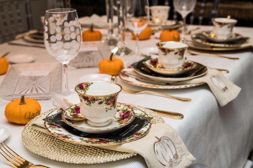 fall tablescape, Downton Abbey tablescape, hight tea,
