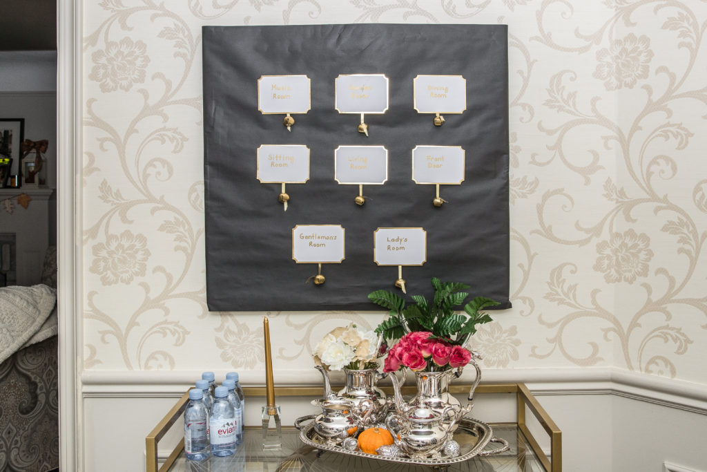 DIY Downton Abbey decor, bell board, afternoon tea, high tea