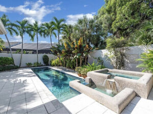 back yard, pool and hot tub, palm spring style, florida