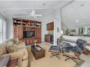 family room with wet bar, tv room, florida